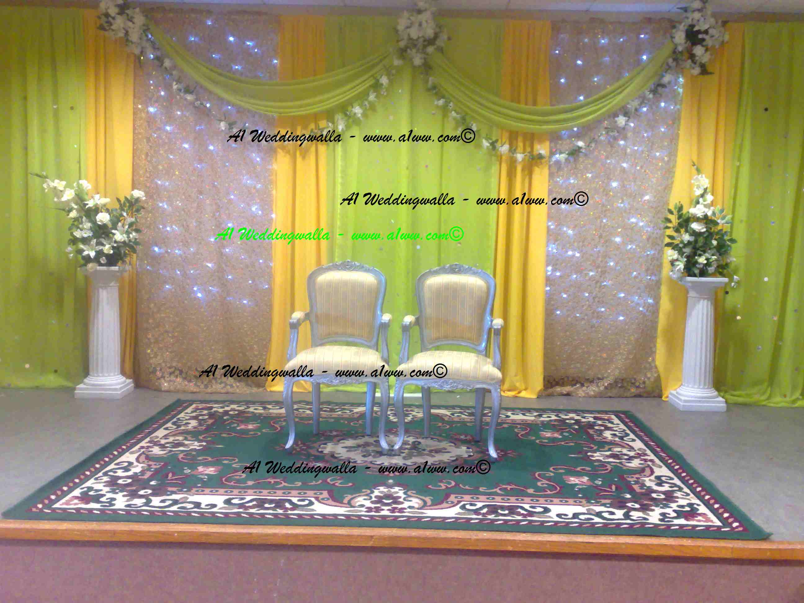 Simple Mehndi Decoration At Home : Wedding stages